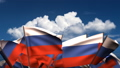 Waving Russian Flags (seamless & alpha channel) 75011176