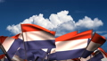 Waving Dutch Flags (seamless & alpha channel) 75011178