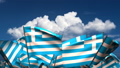 Waving Greek Flags (seamless & alpha channel) 75011180