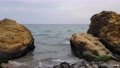 Seascape. The coastline, a large rock on which birds nest. 75060622
