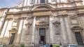 The baroque Church of Saint Ignatius of Loyola at Campus Martius timelapse hyperlapse in Rome, Italy 75115999