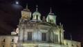 Royal Basilica San Francisco el Grande night timelapse hyperlapse in Madrid, Spain. 75116002