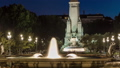 Cervantes monument timelapse on the Square of Spain in Madrid at night 75116019