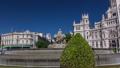 Cibeles fountain at Plaza de Cibeles in Madrid timelapse hyperlapse, Spain 75116021
