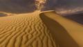 Sunset over the sand dunes in the desert 75134758