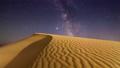 Timelapse of desert under the night starry sky 75134760