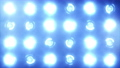 Stage lights. Close-up. Floodlights shining brightly and turning on and off. Blue. More color options in my portfolio. 75168973