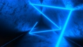 4K Abstract seamless looped animation of blue neon ray, glowing light tubes 75226192