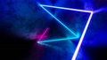 4K Abstract seamless looped animation of iridescent neon ray, glowing light tube 75226199
