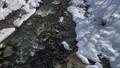 從通往長野縣白馬村大ide懸索橋的人行道上觀看白雪皚皚的姬川河 75241192