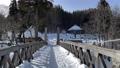 長野縣白馬村與萬向架一起在大ide公園移動和拍攝懸索橋時行走 75241196