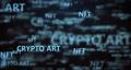 NFT background. non fungible token concept 75374182