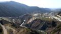 2021年3月7日に開通した新阿蘇大橋の風景、新阿蘇大橋を上空から見た風景 75383102
