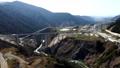 2021年3月7日に開通した新阿蘇大橋の風景、新阿蘇大橋を上空から見た風景 75383107