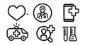 Healthcare icon set in outline design 75420982