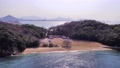 ドローンで空撮 万葉の島沙弥島 ナカンダ浜から瀬戸大橋へ③ 75475329