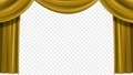動畫打開窗簾,頂部有弧形裝飾,金色 75488451