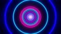 3d render seamless VJ loop with infinity flight inside circle neon lights tunnel 75563570