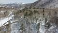 冬の北海道 雪景色と渓流(支笏湖周辺 空撮) 75586832