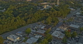 Roswell Georgia Aerial v2 birdseye shot of low rise industrial neighborhood and forest during sunset - Shot with Inspire 2, X7 camera - August 2020 75649118