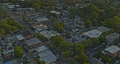 Roswell Georgia Aerial v3 birdseye shot of calm neighborhood, traffic and forest during sunset - Shot with Inspire 2, X7 camera - August 2020 75649119