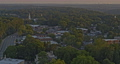 Roswell Georgia Aerial v7 birdseye shot of Old Town neighborhood during serene sunset - Shot with Inspire 2, X7 camera - August 2020 75649123