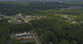 Woodstock Georgia Aerial v4 pan right shot of calm neighborhood, wild forest and hills - Shot with Inspire 2, X7 camera - August 2020 75649129