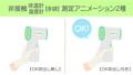 非接觸式溫度計(溫度計)2種類型的溫度測量動畫戴手套 75735733