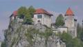 Medieval Castle Bled Lake Slovenia 4K Ulhta High Definition Timelapse 75762634