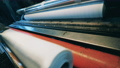 Paper roll production process at a modern paper factory 75767390
