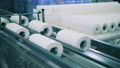 Paper towel manufacturing line at a paper plant 75767434