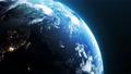 우주에서 본 회전하는 지구 75854532
