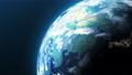 우주에서 본 회전하는 지구 75860589