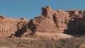 Red Orange Massive Rock Formation In Arches Park On A Sunny Day In Motion 75867855