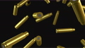 4k animation of ammunition cartridge cases of a machine gun falling to the ground 75902491