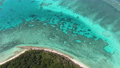 Aerial Footage of Lady Elliot island in the Southern Great Barrier Reef or Coral Cay. Queensland, Australia. 75911802