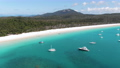 Aerial: Several shots of world famous Whitehaven Beach located in the Whitsundays. Accessible from Airlie beach. Queensland, Australia.  75911816