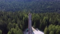 Aerial view of Italian Olympic Ski Jump built in Cortina dAmpezzo for Winter Olympics in 1956. 75949562