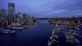 Beautiful view of Vancouver downtown skyline in dusk to night, False Creek Harbour, British Columbia. Canada. 75988596