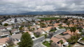 Aerial view of small town Hemet in the San Jacinto Valley in Riverside County, California 76013448