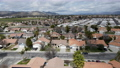 Aerial view of small town Hemet in the San Jacinto Valley in Riverside County, California 76013451