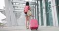 Asian female traveler walking 76039141