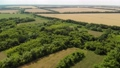 Beautiful rural summer landscape from a height in Russia 76053074
