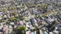Aerial top view of Pasadena neighborhood in California 76099785