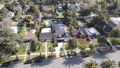 Aerial top view of Pasadena neighborhood in California 76099788