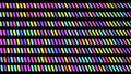4k abstract looped dark background with black blocks like plates, keys or sticks in a rows on plane like light bulbs, running multicolor neon lights. Vj loop for beat music, festive show 76100213