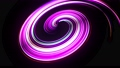 Motion graphics, sci-fi bg. Stream of multicolor neon lines form spiral shape, curls and pattern. Abstract background with light trails, Modern trendy motion design background. Light flow bg in 4k. 76100222