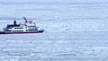 流氷に覆われたオホーツクの海に砕氷船 76144920