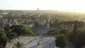 46 Drone View Of Piazza Del Popolo Famous Square Roma 76145762
