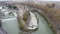 22 Aerial View Of Isola Tiberina Or Tiber Island Rome Italy 76145768